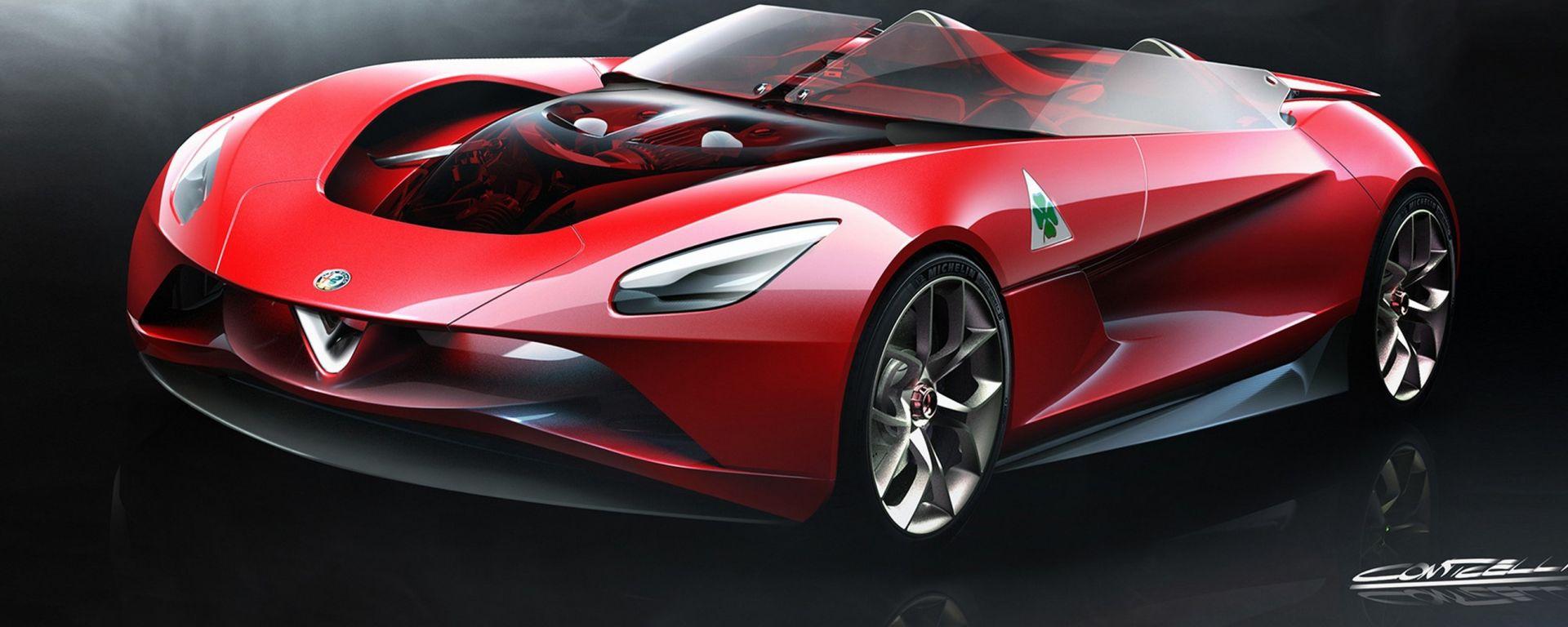 Nuova Alfa Romeo 6C: i bozzetti del designer Alfa-Maserati