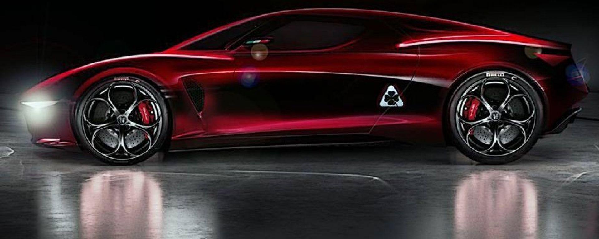 Alfa Romeo 8C, ecco come se la immagina il designer Alessandro Masera