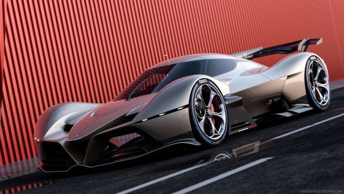 Alfa Romeo 8C-R Tazio: i rendering del concept di Arese