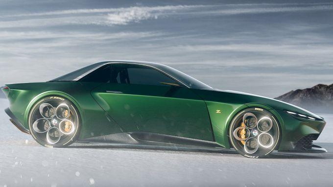 Alfa Romeo e Zagato: GT Junior Coupe vista di lato