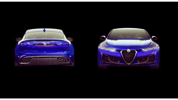 Alfa Romeo Giulia 2021 rendering