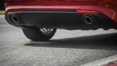 Alfa Romeo Giulia 2.2 Turbo diesel 180 CV: dettaglio degli scarichi