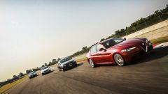 Alfa Romeo Giulia, Audi A4, Bmw Serie 3 e Mercedes Classe C: foto di gruppo