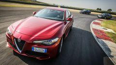 Alfa Romeo Giulia, Audi A4 e Mercedes Classe C: foto di gruppo