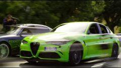 Alfa Romeo Giulia durante le riprese di 6 Underground