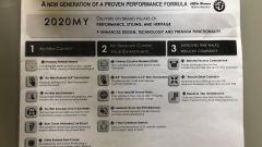 Alfa Romeo Giulia e Stelvio 2020: il documento che riporta le nuove caratteristiche