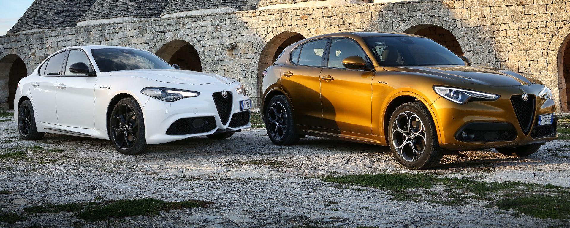 Alfa Romeo Giulia e Stelvio 2020