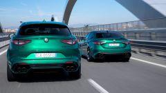Alfa Romeo Giulia e Stelvio Quadrifoglio 2020, vista posteriore