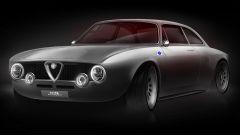 Alfa Romeo Giulia GT electric by Totem Automobili, vista 3/4 anteriore