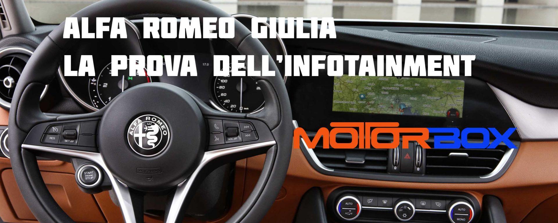 Alfa Romeo Giulia: la prova dell'infotainment