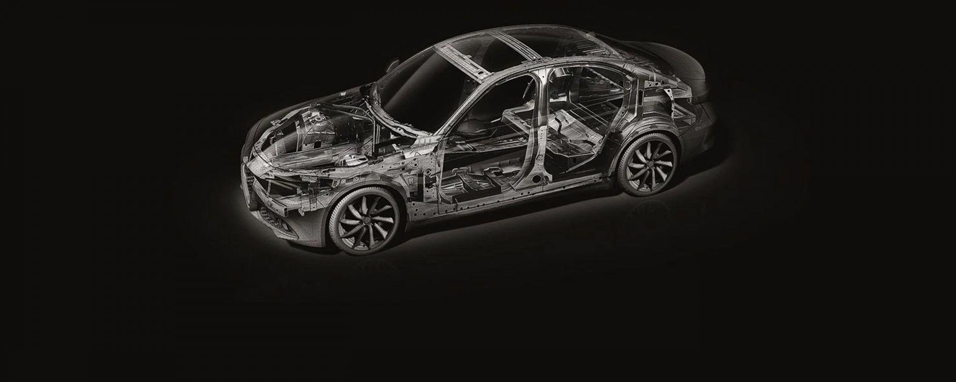 Alfa Romeo Giulia: la sua piattaforma, chiamata Giorgio, verrà utilizzata anche per Maserati e Jeep