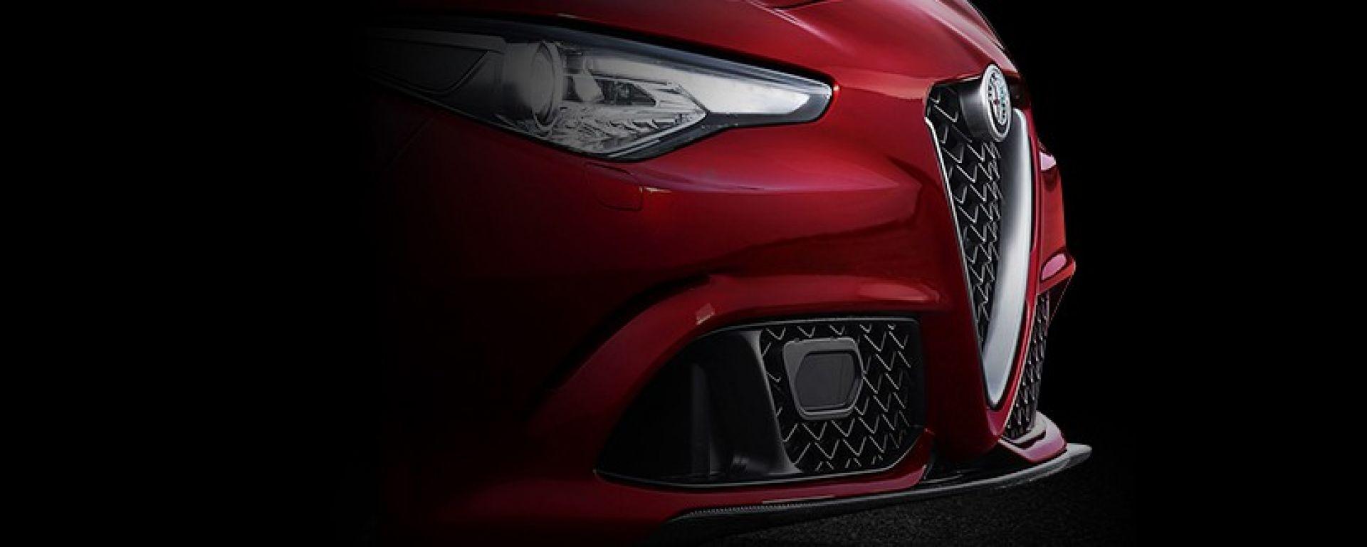 Alfa Romeo Giulia, lo spoiler mobile in azione