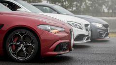 Alfa Romeo Giulia Quadrifoglio, BMW M4 GTS, Mercedes C63 AMG S: i frontali a confronto