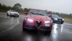 Alfa Romeo Giulia Quadrifoglio, BMW M4 GTS, Mercedes C63 AMG S: per tutte c'è la trazione posteriore