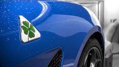 Alfa Romeo Giulia Quadrifoglio: dettaglio badge