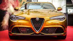 Alfa Romeo Giulia Quadrifoglio Gold: il frontale