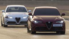 Alfa Romeo Giulia Quadrifoglio: l'auto oscurata seguita dall'auto-guida
