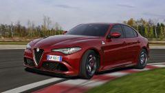 Alfa Romeo Giulia Quadrifoglio: per lei prese d'aria più generose rispetto alla versione diesel