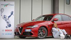 Alfa Giulia Quadrifoglio: in pista con Rachele Sangiuliano e Mara Santangelo [Video] - Immagine: 16