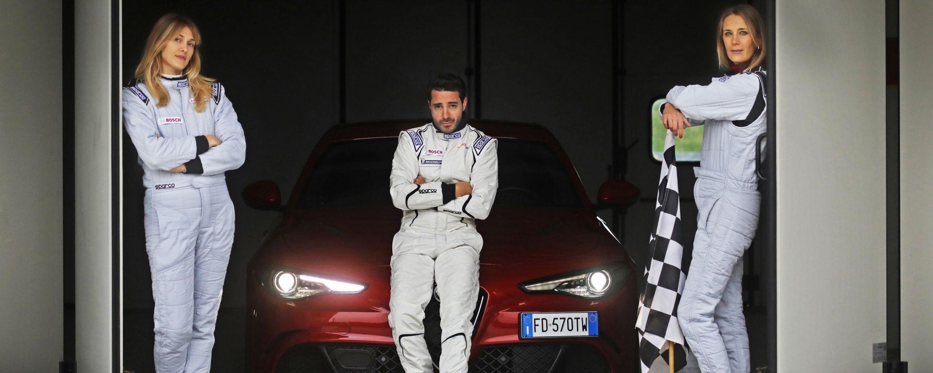 Alfa Giulia Quadrifoglio: in pista con Rachele Sangiuliano e Mara Santangelo [Video]