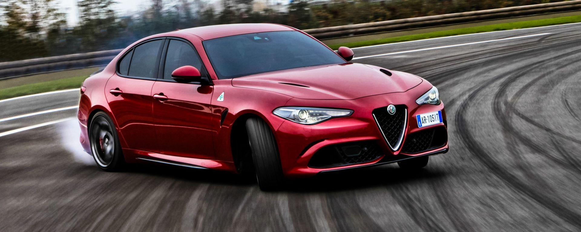 Alfa Romeo Giulia Quadrifoglio: test drive in pista