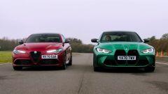 Alfa Romeo Giulia Quadrifoglio vs BMW M3 Competition, la sfida in pista - dal video di Auto Express