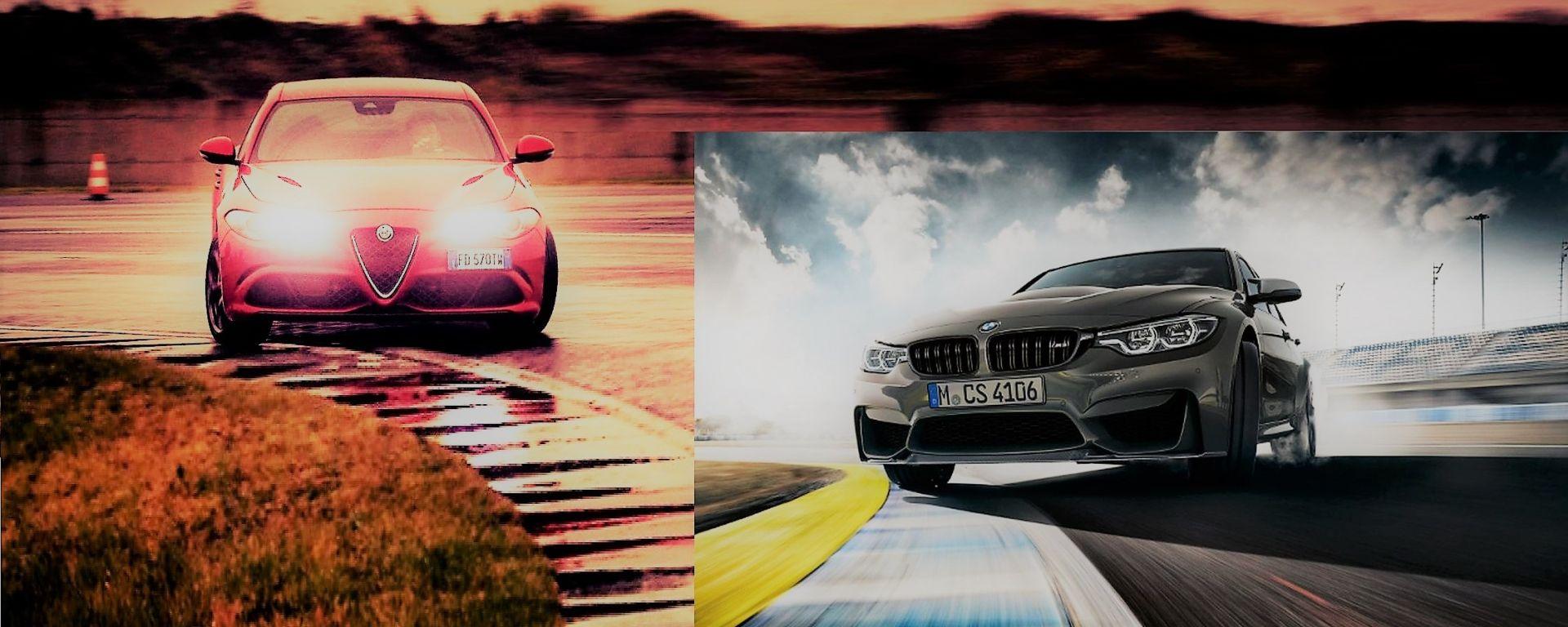 Alfa Romeo Giulia Quadrifoglio vs BMW M3 CS