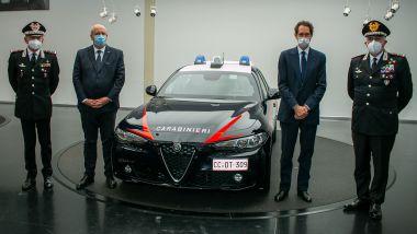 Alfa Romeo Giulia Radiomobile: la nuova Gazzella dei Carabinieri, la Cerimonia di consegna dell'auto