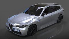 Alfa Romeo Giulia Station Wagon, altro render