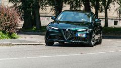 Alfa Romeo Giulia Ti 2020, un momento del test drive