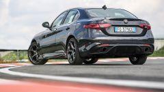 Alfa Romeo Giulia Veloce a benzina: vista 3/4 posteriore