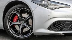 Alfa Romeo Giulia Veloce: dettaglio del freno