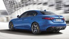 Alfa Romeo Giulia Veloce: il 2.0 benzina sviluppa 280 cv e 400 Nm di coppia. Il diesel fa 210 cv e 470 Nm di coppia