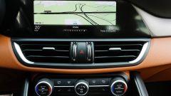 Alfa Romeo Giulia Veloce: lo schermo dell'infotainment