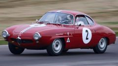 """Alfa Romeo Giulietta Sprint Speciale """"low nose"""" del 1959: ha partecipato all'edizione 2009 del Goodwood Revival Meeting"""