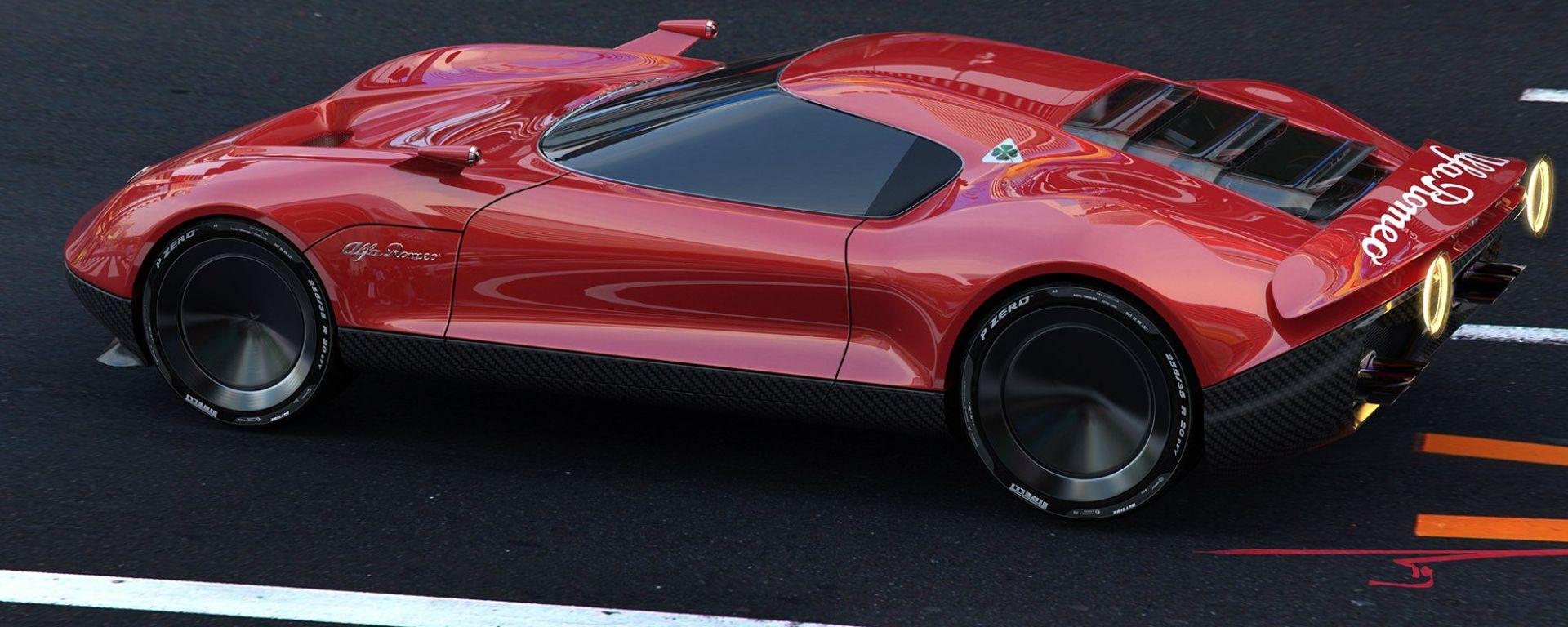 Alfa Romeo LEA Concept, un'anticipazione di nuova Alfa 8C?