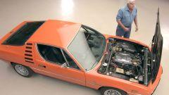 Alfa Romeo Montreal: il vano motore in vista
