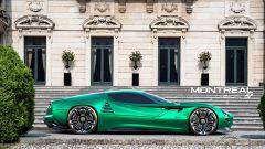 Alfa Romeo Montreal Vision GT in uno dei garage virtuali di Gran Turismo Sport
