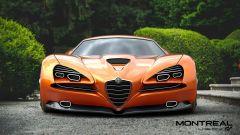 Alfa Romeo Montreal Vision GT: l'aggressivo frontale