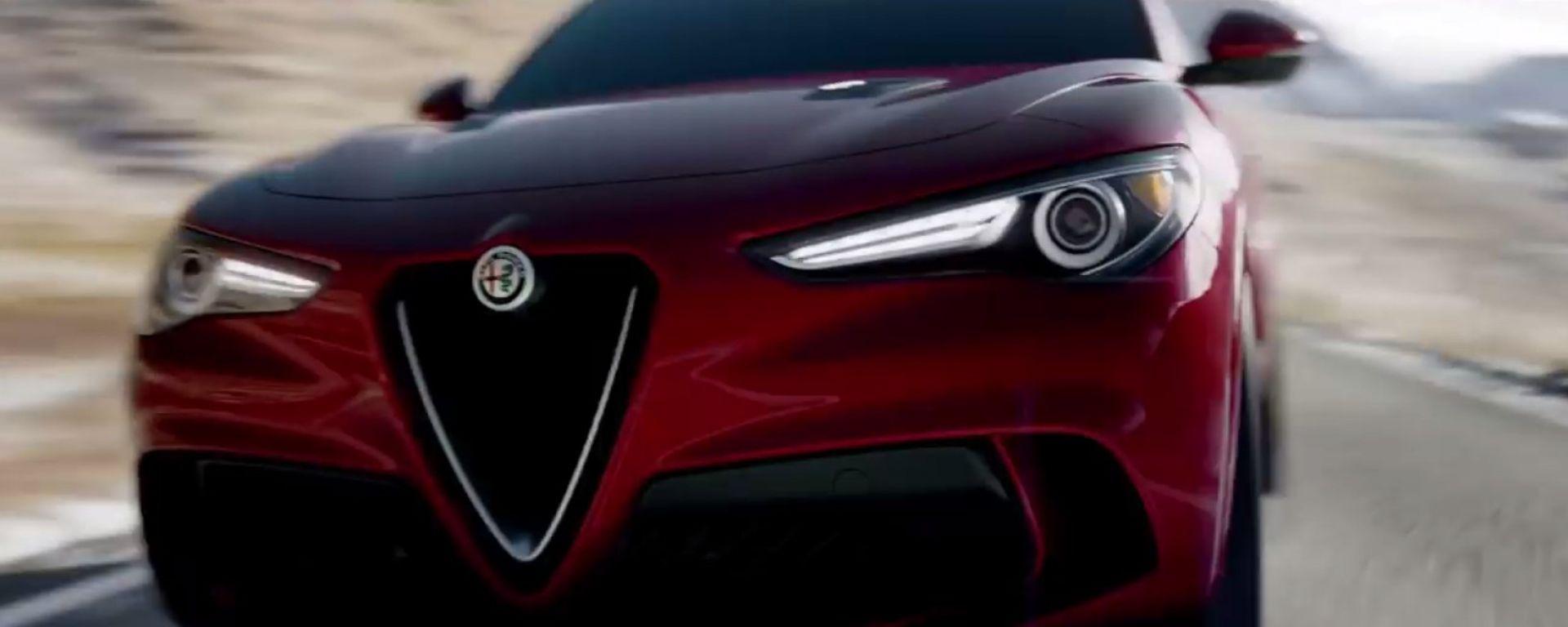 Alfa Romeo Stelvio Quadrifoglio: eccola in azione [VIDEO]