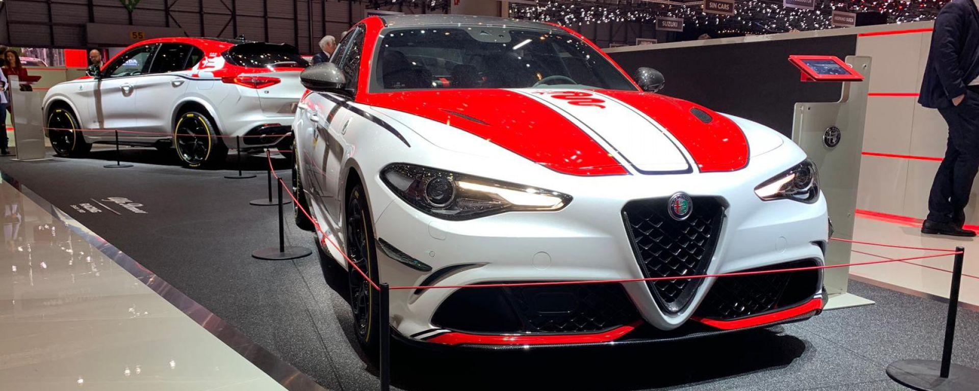 Stelvio e Giulia Quadrifoglio Alfa Romeo Racing: le novità