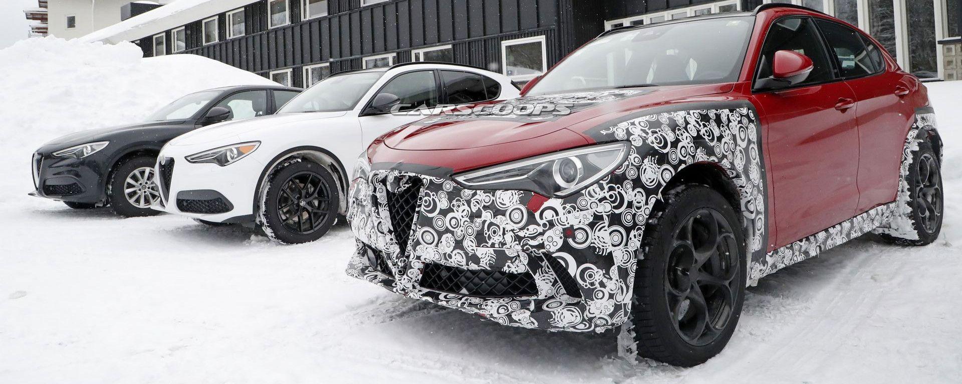 Alfa Romeo Stelvio: online le prime foto spia del restyling