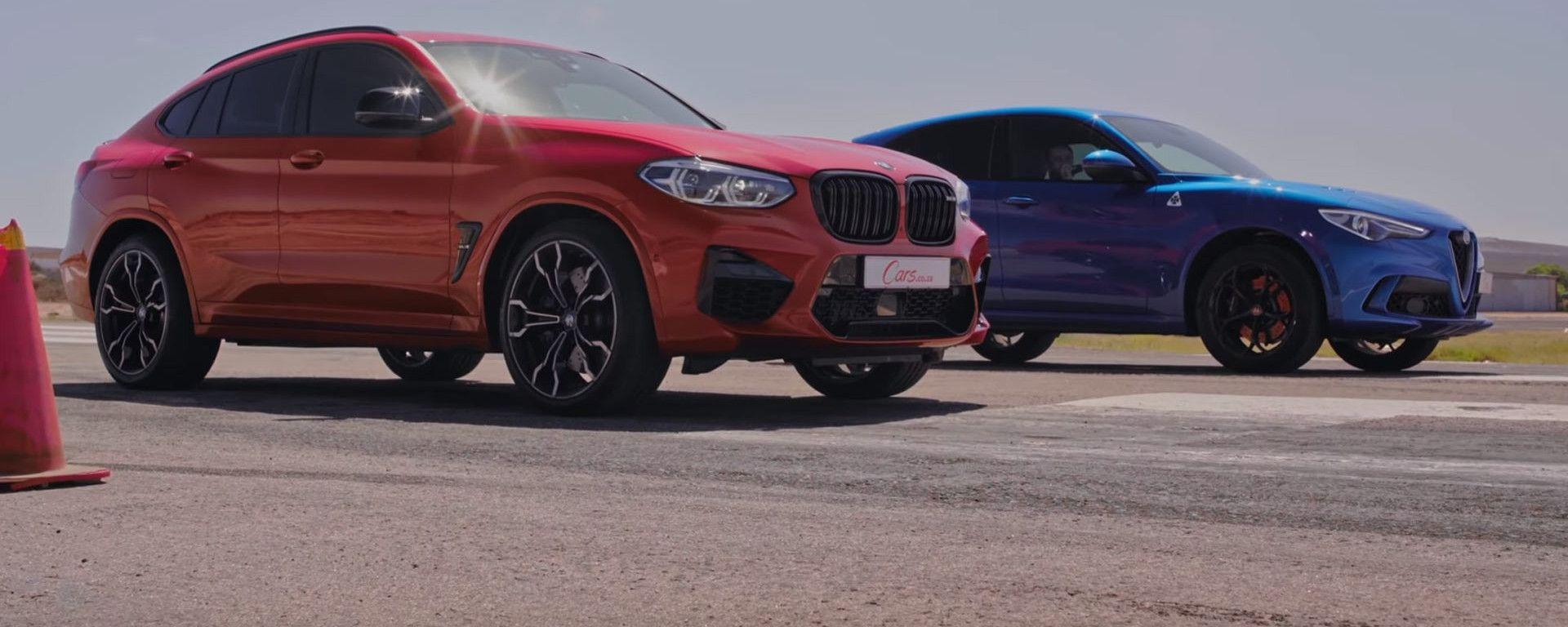 Alfa Romeo Stelvio Quadrifoglio VS BMW X4 M: drag race in video