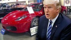 All'asta la Ferrari dell'ex presidente degli Stati Uniti Donald Trump