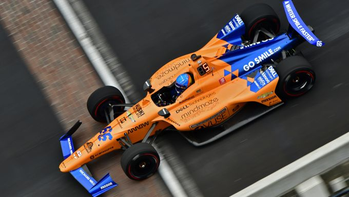 Alonso a Indianapolis nel 2019