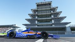 Alonso e Button in lotta con le IndyCar del simulatore rFactor2