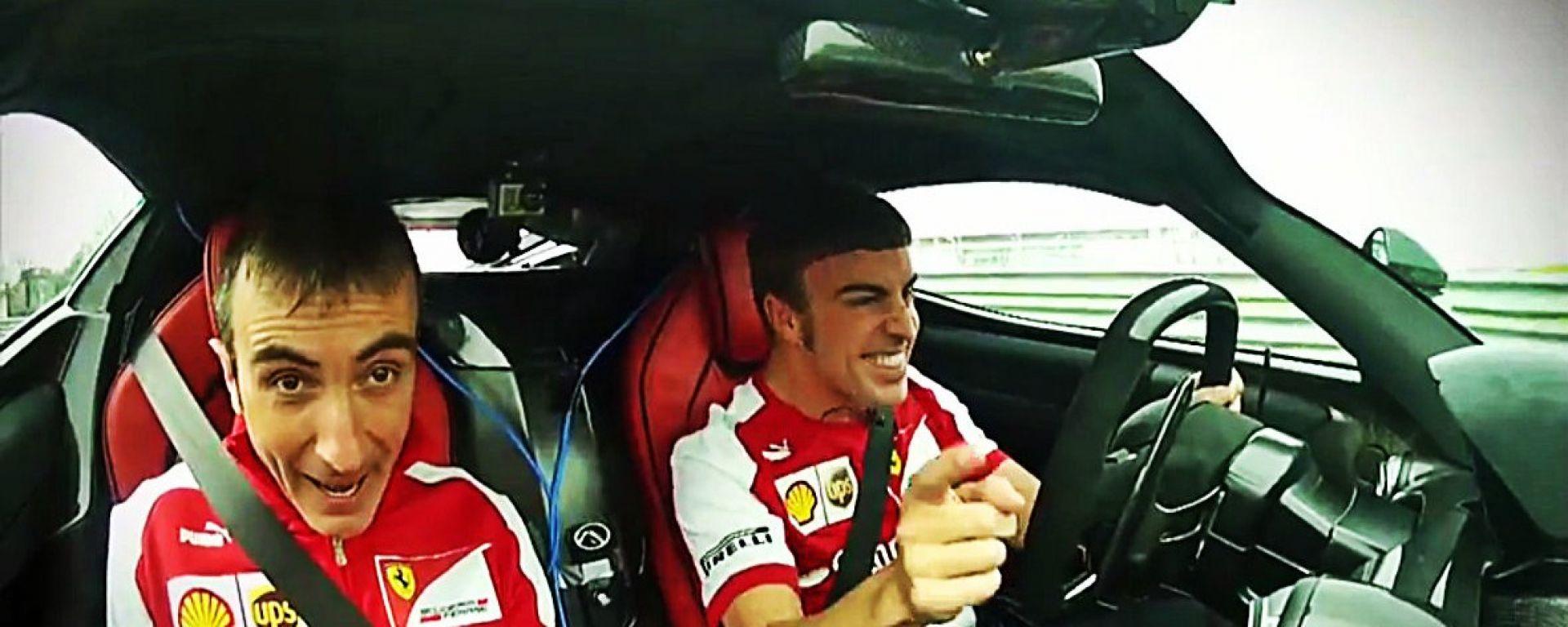 Alonso testa LaFerrari... piano piano