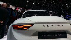 Alpine A110 al Salone di Ginevra 2017: dettaglio dei gruppi ottici posteriori