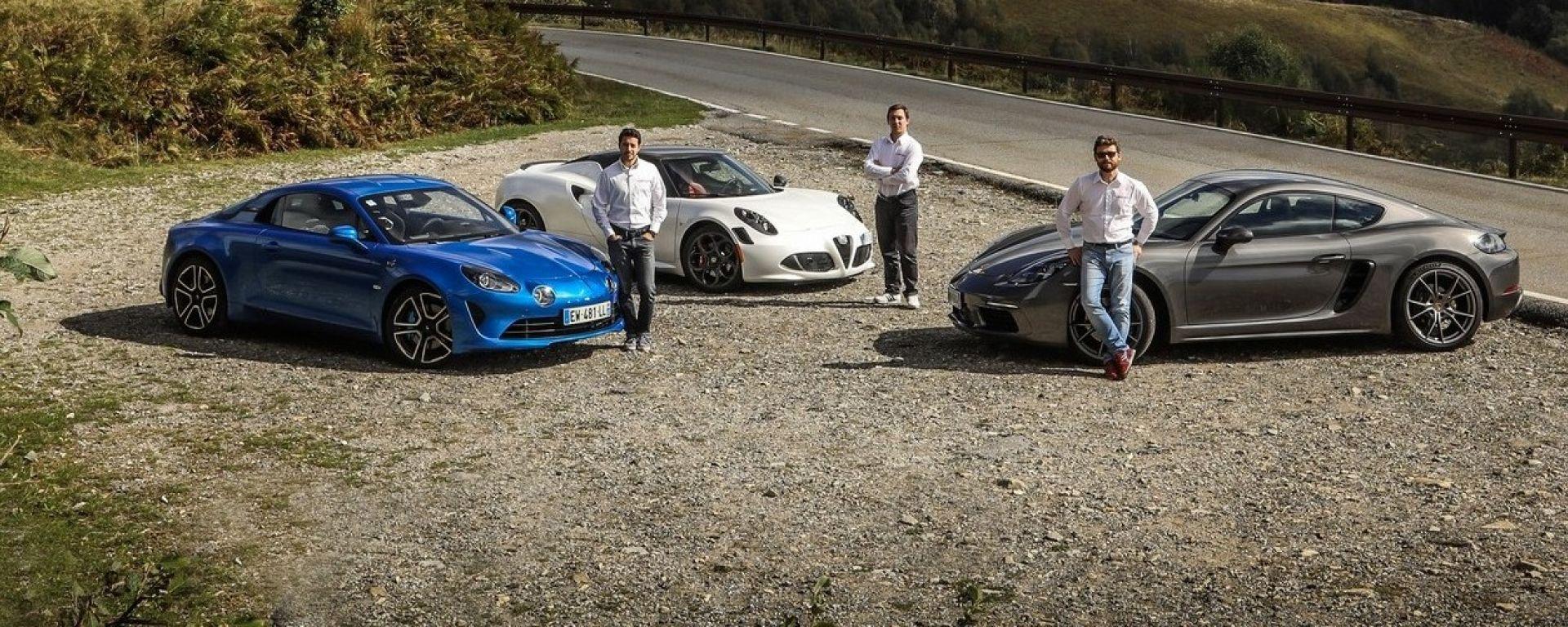 Sito ufficiale comprare bene acquistare Prova su strada: Alpine A110 vs Alfa Romeo 4C vs Porsche 718 ...