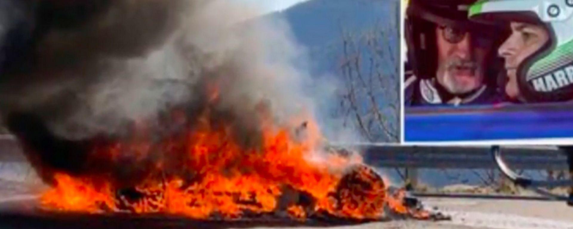 Alpine A110 in fiamme: il video dell'incidente di Harris